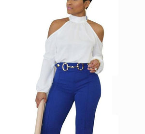 Jackie Cold Shoulder Top-August Bee