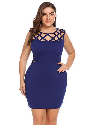 Leslie Hollow Out Pencil Dress-August Bee