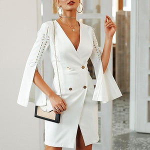 Lilliana Split Blazer Dress-August Bee