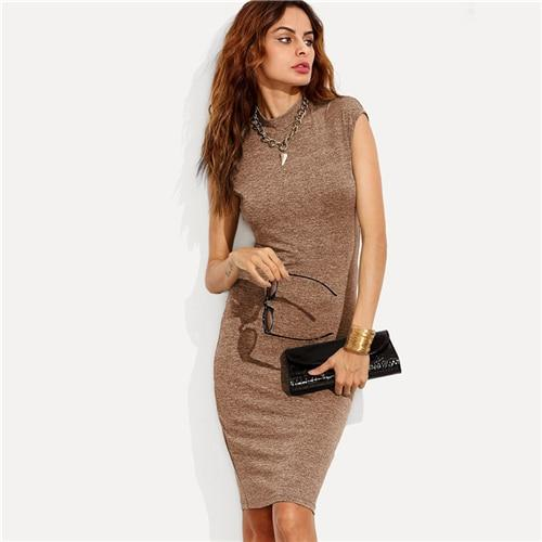Lisa Plain Knit Pencil Dress-August Bee