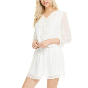 Louanne Crochet Tie Dress-August Bee