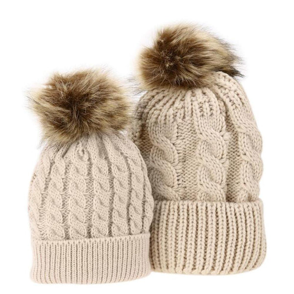 Mommy and Me Pompom Hats-August Bee