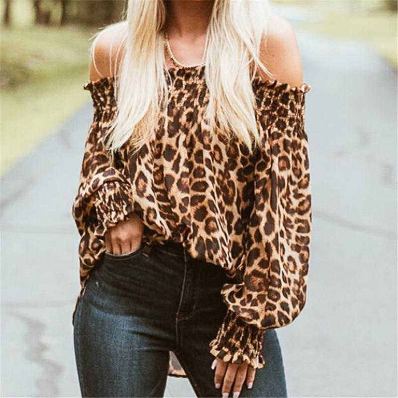 Nyla Leopard Printed Blouse-August Bee