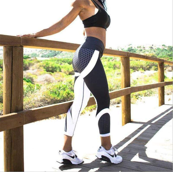 Pattern Fitness Leggings-August Bee