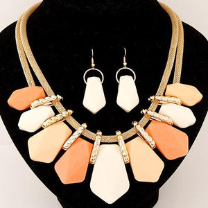 Rachel Statement Necklace Set-August Bee