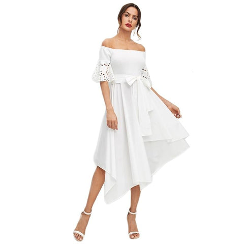 Romina Off Shoulder Dress-August Bee