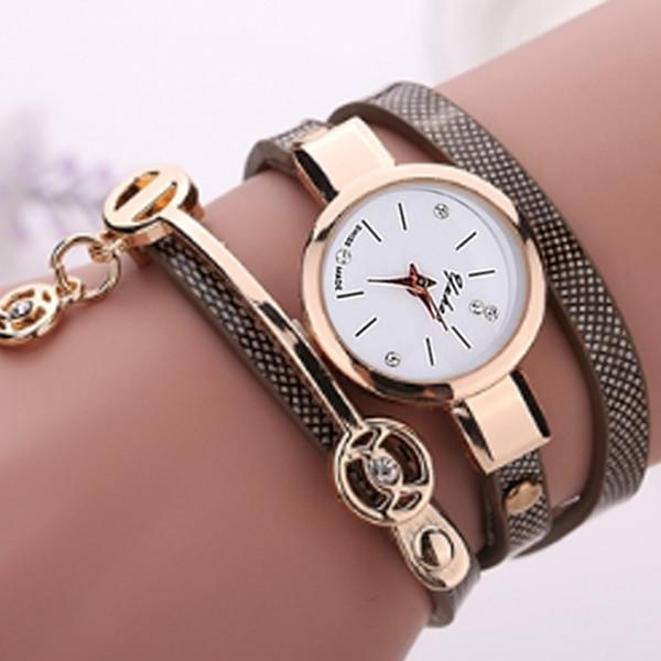 Rose Gold Charm Wrap Watch-August Bee