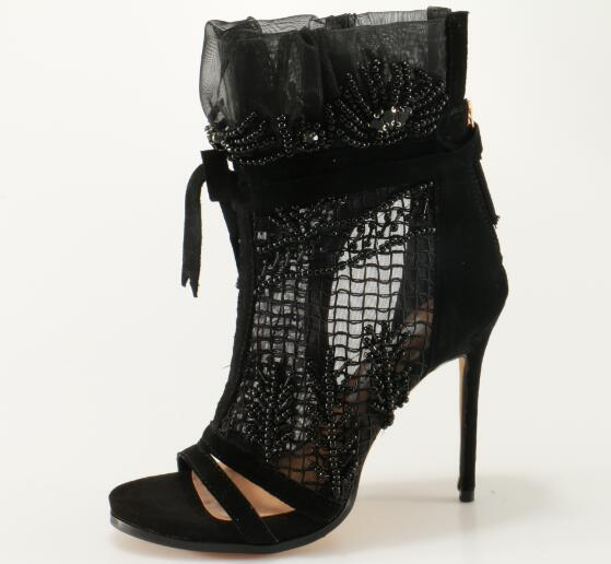 Ruby Lace Up High Heel Boots-August Bee