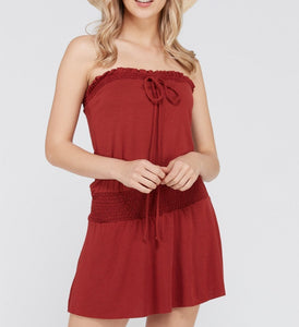 Sandra Smock Strapless Dress-August Bee
