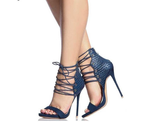 Scarlette Strappy High Heels-August Bee