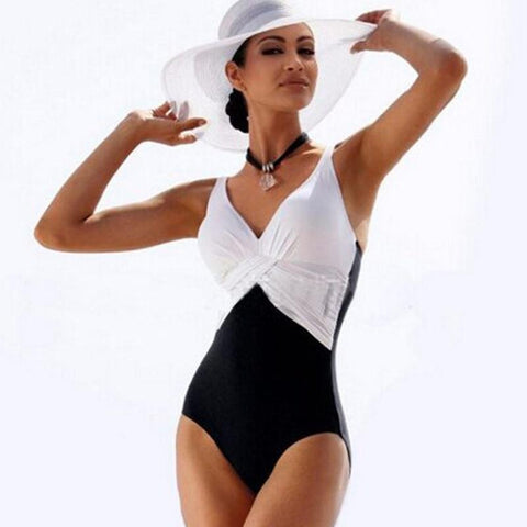 Twisted One Piece Swimsuit-August Bee