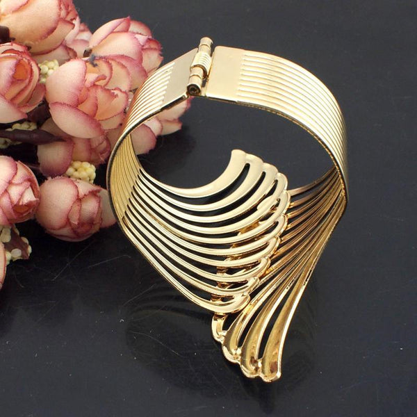 Wing Cuff Bangle-August Bee