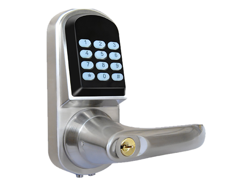 Amazing Smart Door Lock Latch Rubberised Buttons Silver For Your Home - Model Of keyless exterior door lock Pictures