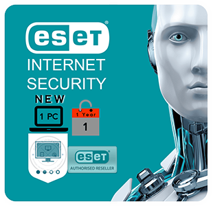 ESET Internet/Cyber Security - For Windows PC or MacOS - 12 month Licence