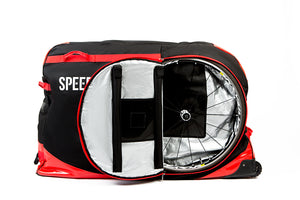 Speed Hound FREEDOM Bike Travel Bag (Jet Black/Red)
