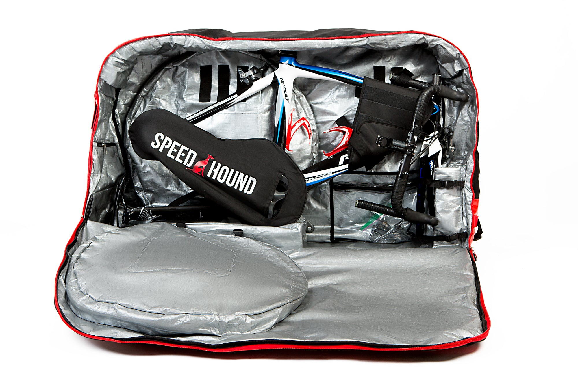Speed Hound FREEDOM Bike Travel Bag (Jet Black/Red) - Used, Good Condition***