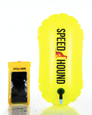 Speed Hound Swim Buoy LITE with Waterproof Phone Case (Highlighter Yellow)