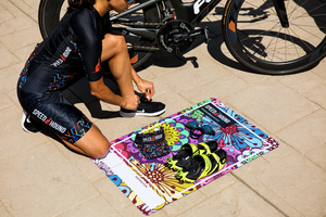 Speed Hound Transition Mat and Quick Dry Towel (Psychedelic Flowers)