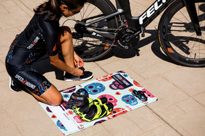 Speed Hound Transition Mat and Quick Dry Towel (Skull Fun)