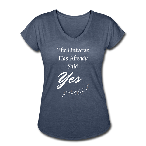 Universe Said Yes shirt - navy heather
