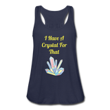 I Have A Crystal For That tank top - navy