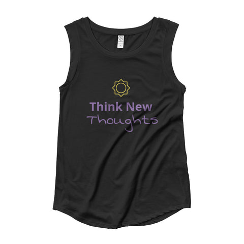 Think New Thoughts cap cleeve t-shirt