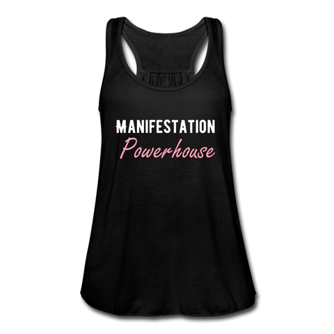 Manifestation Powerhouse Women's Flowy Tank Top - black