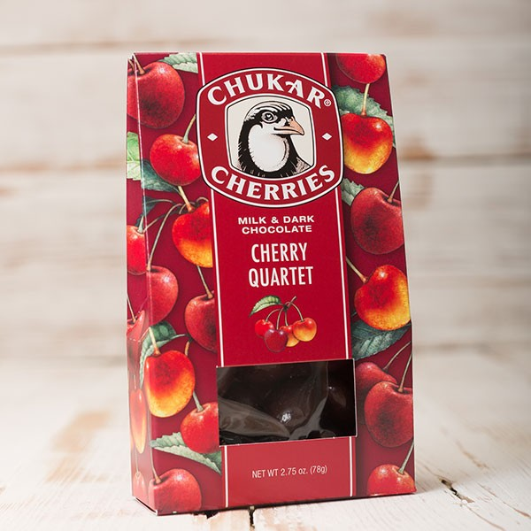 Chukar Cherries Quartet Chocolate Washington Gift Box Gift Basket Made in Washington Gifts