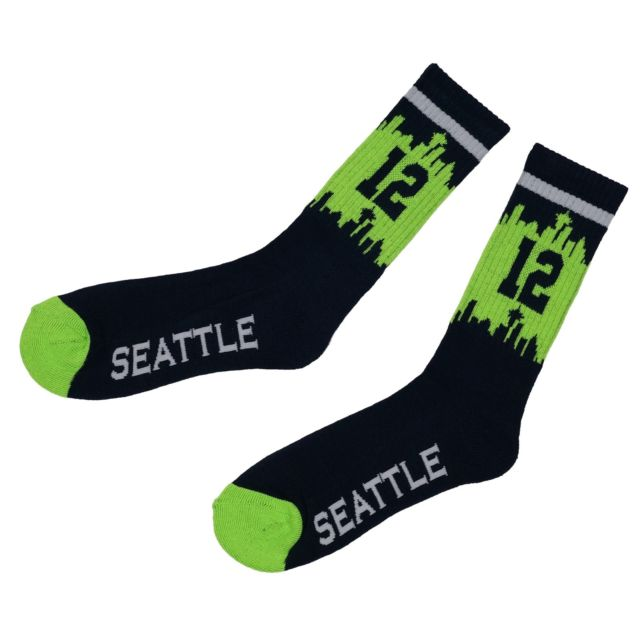 Seattle Seahawks 12th Fan Socks - Washington in a Box