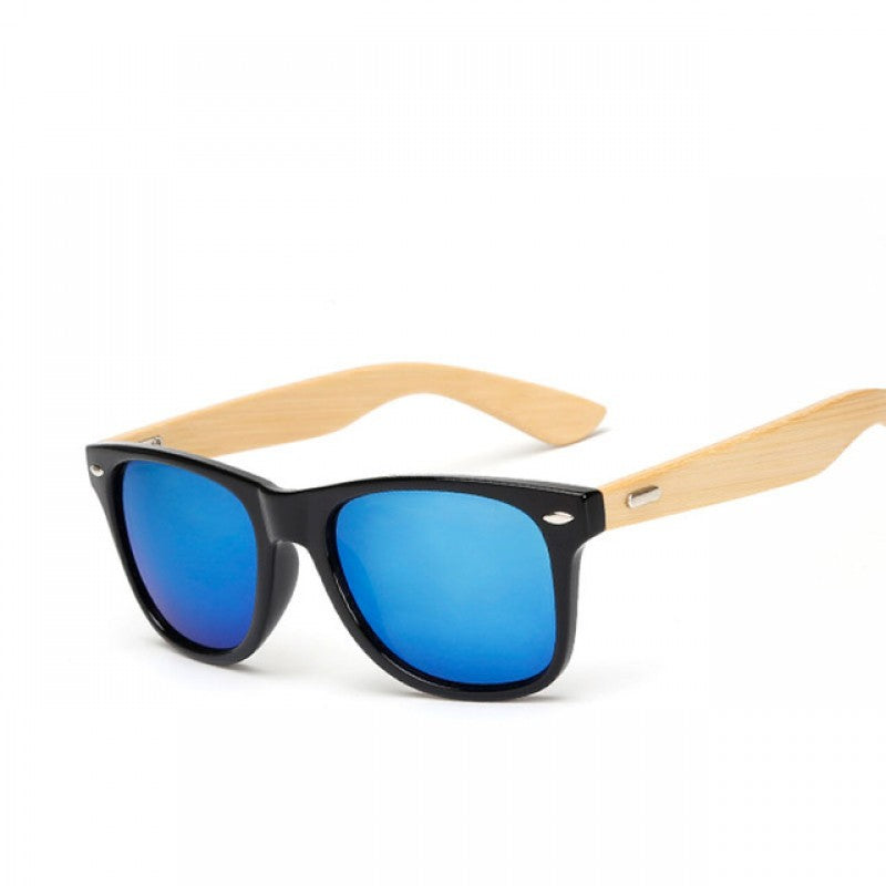 Real Bamboo Wayfarer-Style Sunglasses - Washington in a Box