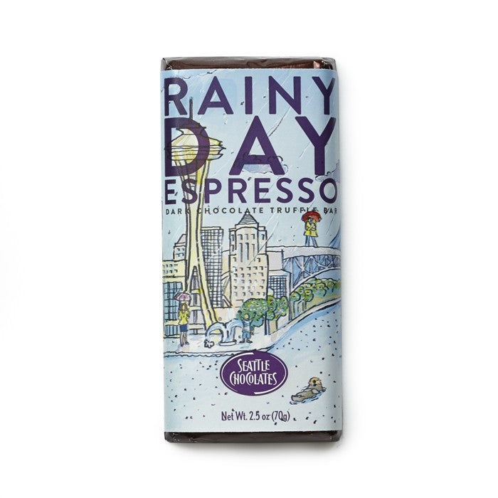 Seattle Chocolate Rainy Day Espresso Washington Gift Box Gift Basket Made in Washington Gifts
