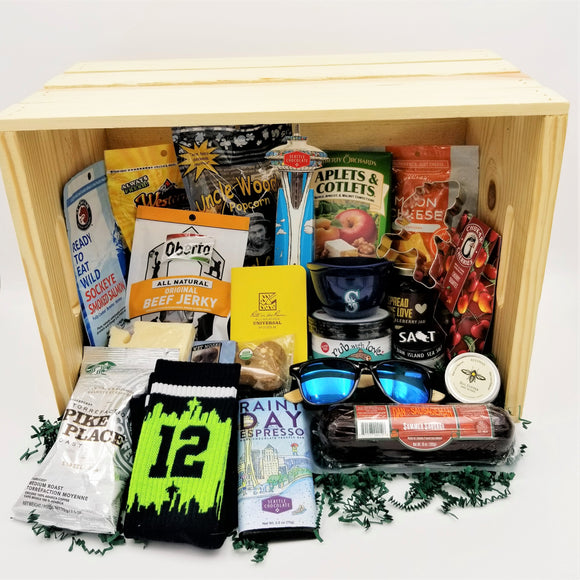 24 Item Washington Gift Box Gift Basket Made in Washington Gifts Crate