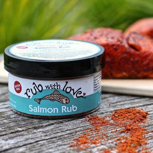 Rub with Love Salmon Rub Washington Gift Box Gift Basket Made in Washington Gifts