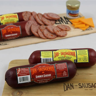 Dan the Sausageman Summer Sausage Mustard Washington Gift Box Gift Basket Made in Washington Gifts