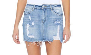 Judy Blue Distressed Denim Skirt