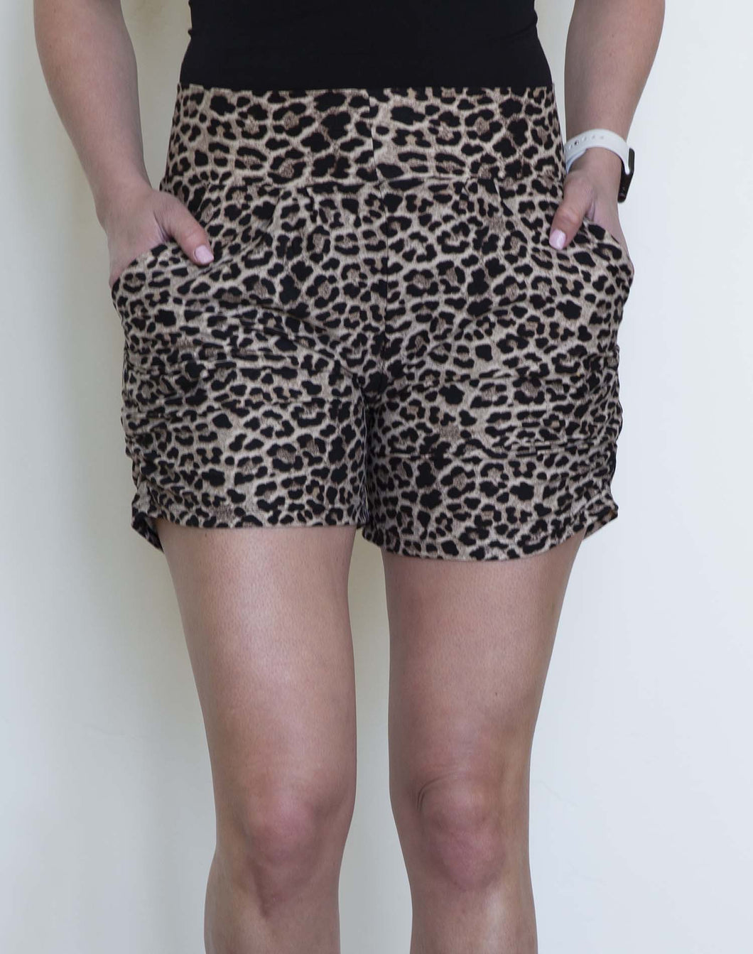 Harem Shorts- Tan Leopard