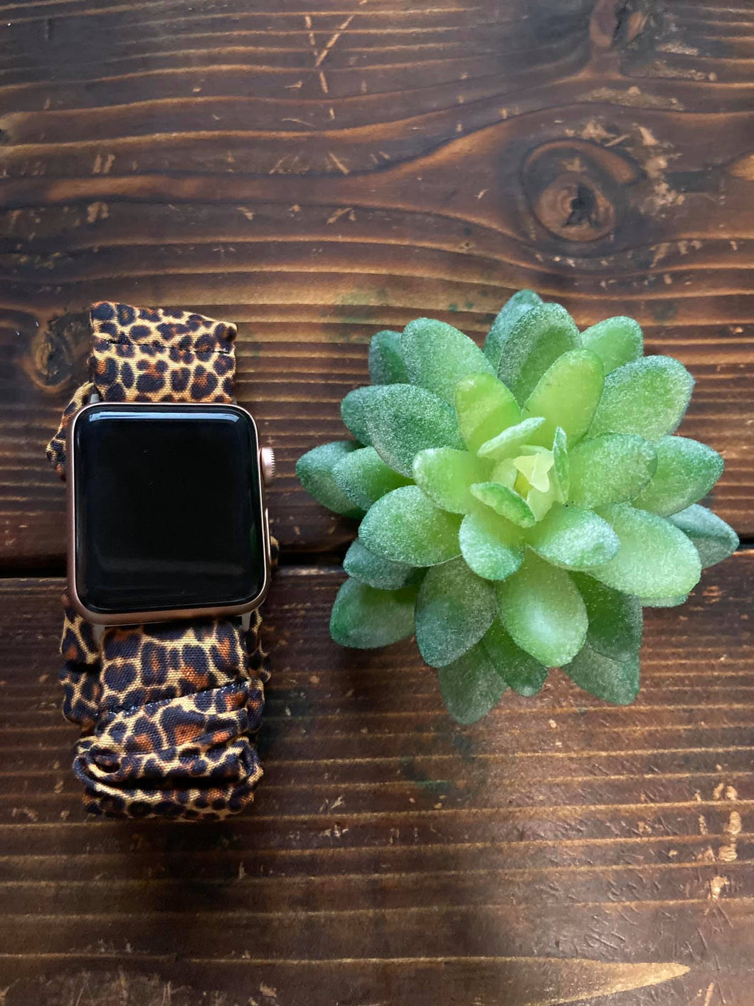 Leopard Scrunchie Apple Watch Band
