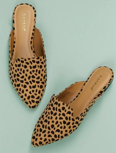 Is there anything cuter than statement shoes? We don't think so either! We are loving these cheetah print mules! They are the perfect women's flats to pair with your favorite print and summer outfits! These are so on trend!