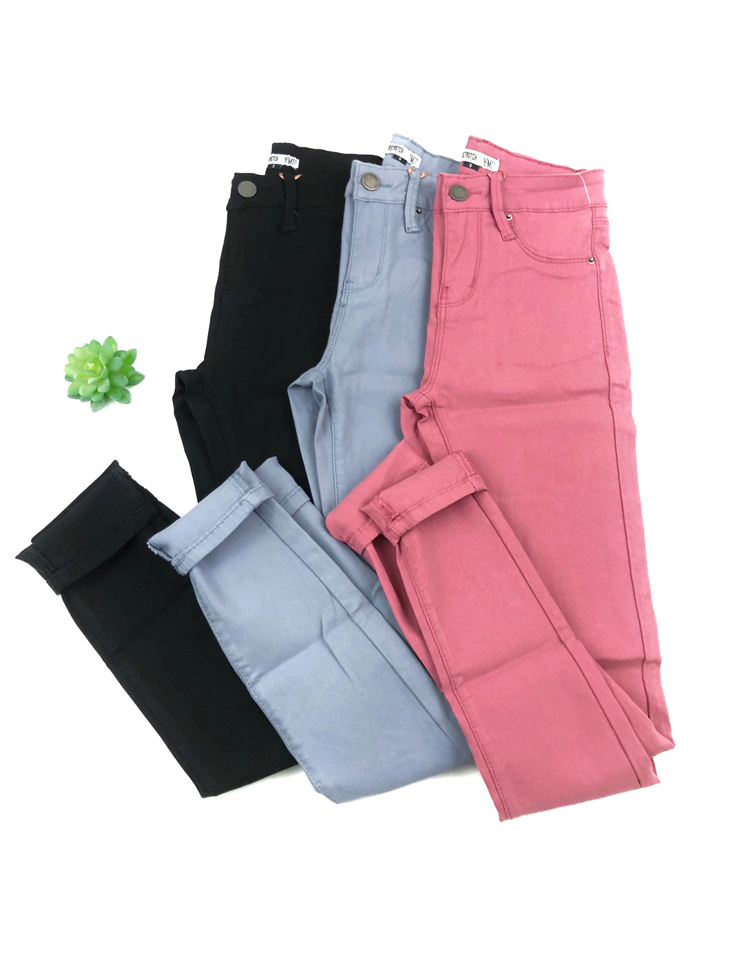 Hyperstretch Skinny Jeggings- Pink, Blue, or Black