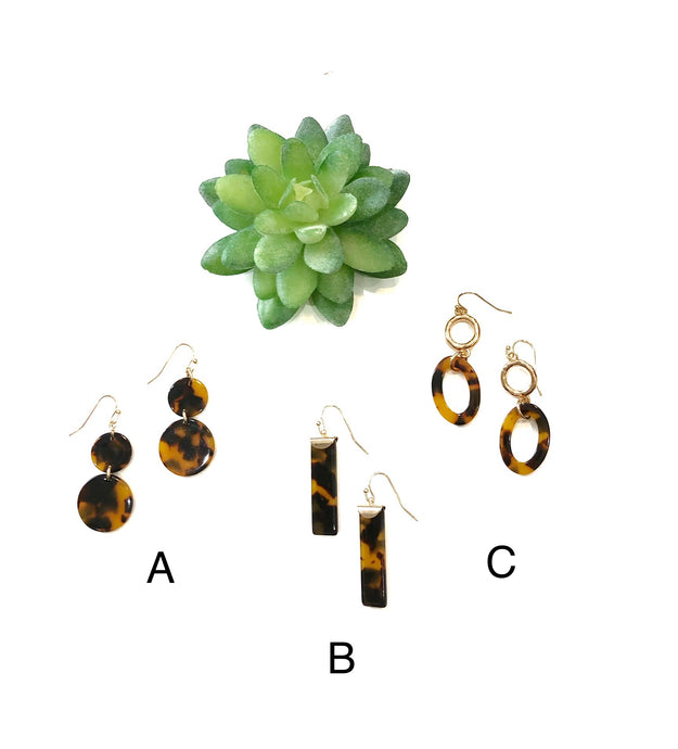 Acrylic fashion earrings. The perfect fashion accessory for any outfit!