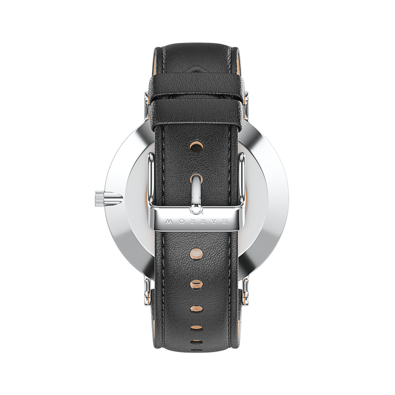 Petite Steel Watch | Black Leather + Mesh