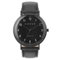Modello, Coal Watch | Black Leather + Mesh