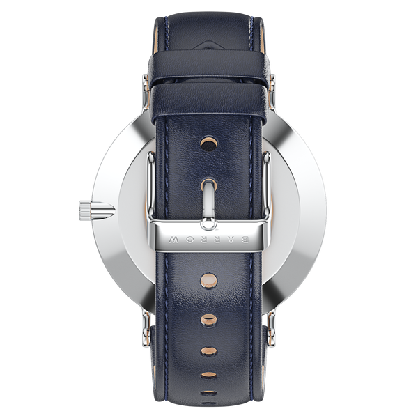 Modello, Steel | Navy Leather + Mesh