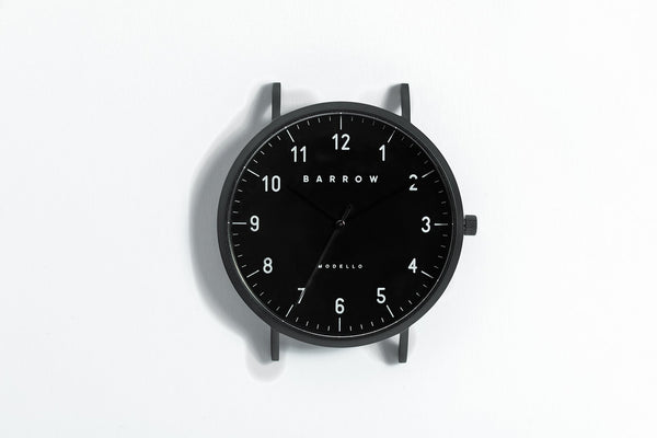 black dial Barrow watch 41mm