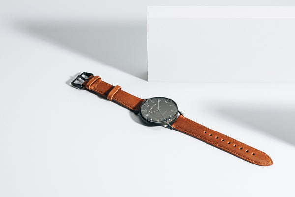 Modello, Coal | Tan Leather + Mesh