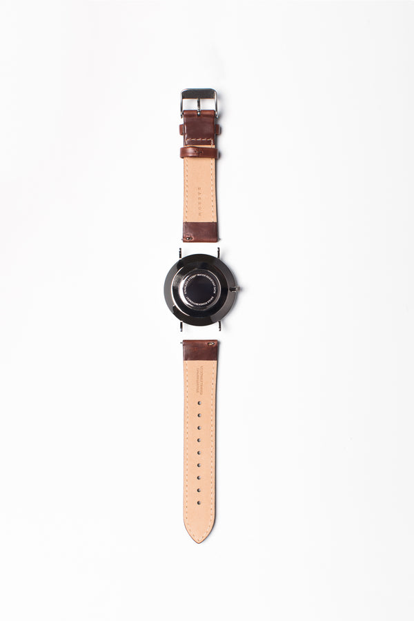 Petite Navy  - Vegetable Tanned Leather Watch Band