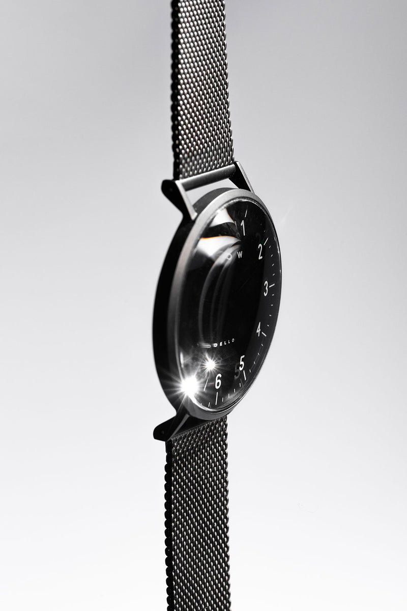 black barrow watch 7mm thin side view