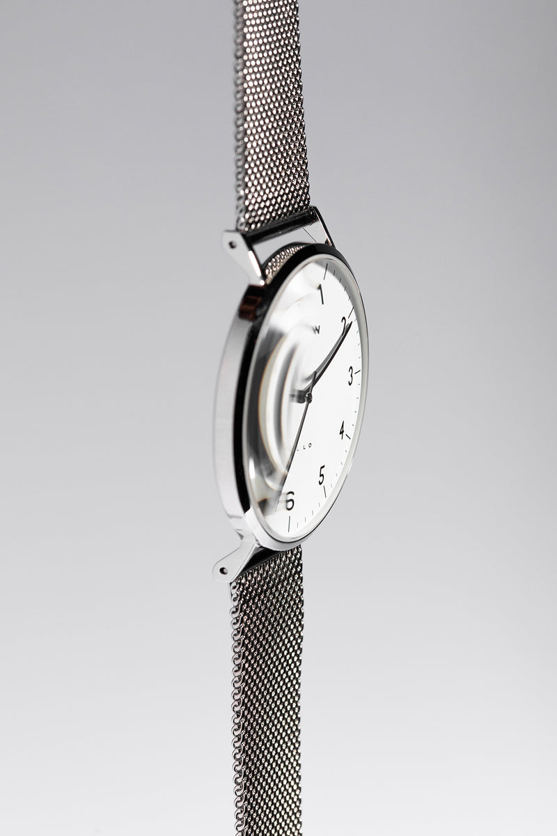 Sample Sale - Modello, Steel Watch | Black Leather + Mesh