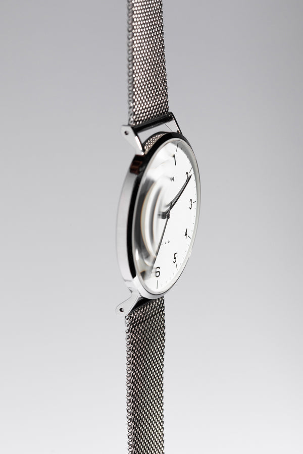Petite Silver Stainless Steel Mesh Watch Strap - 18mm