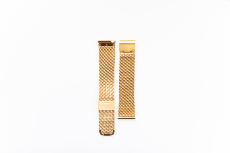 Modello Gold Stainless Steel Mesh Watch Strap - 20mm